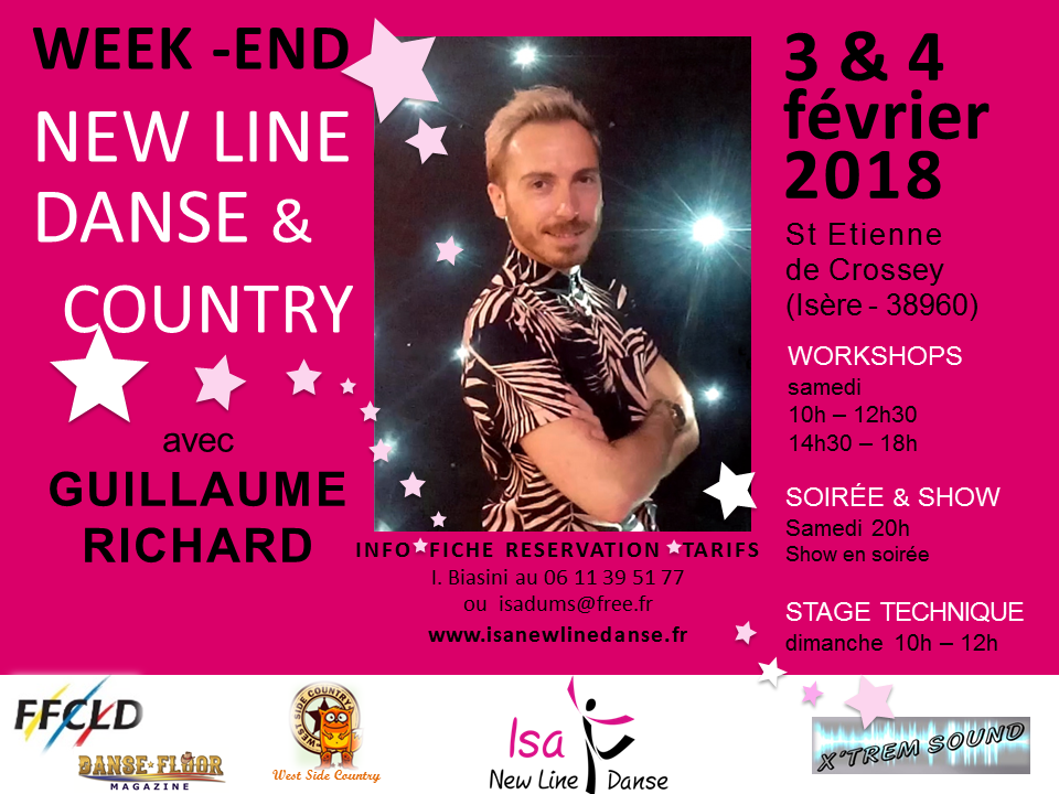 WEEKEND NEWLINEDANSE ET COUNTRY AVEC GUILLAUME RICHARD