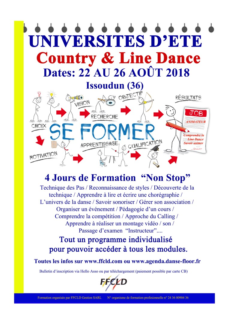 UNIVERSITES D'ETE  COUNTRY & LINE DANCE AOÛT 2018