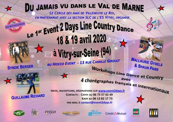 EVENT2DAYS LINE COUNTRY DANCE – 18 et 19/04/2020